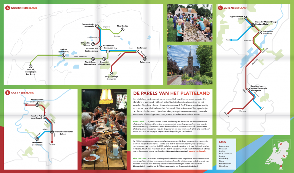 Routekaart 'Parels van het Platteland'