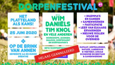 Dorpenfestival geannuleerd